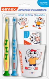 elmex elmex Baby Zahnpflegeset 2x Zahnbürste, Baby Zahncreme 20ml und Becher