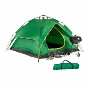 Campingzelt 3-4 Personen grün Erwachsene