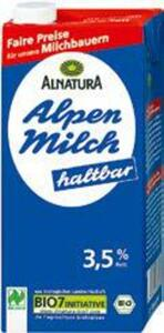 Naturland Alnatura Bio-H-Milch Vollmilch