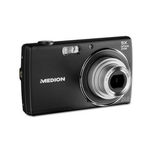 MEDION LIFE® E44047 Digitalkamera, großes 6,86 cm (2,7'') LC-Display, 20 MP, 5-fach optischer Zoom und digitaler Zoom, Makro-Funktion