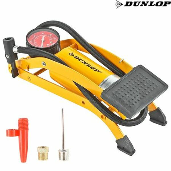Dunlop Fuß-Luftpumpe mit Manometer