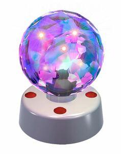 LED Disco-Leuchte mit rotierender Kugel