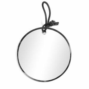 Spiegel ohne Rahmen, rund, D:25cm, schwarz