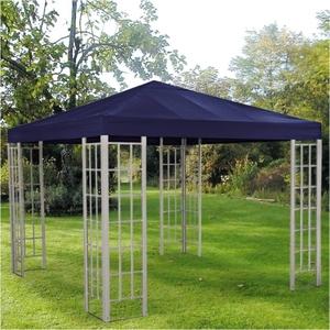 Alu-Gartenpavillon 3x3m Blau