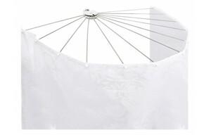 Duschspinne 70 x 100 cm silberfarbig