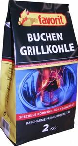 Favorit Buchenholzkohle 2 kg für Tischgrills ,  2 kg