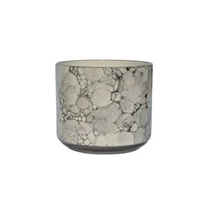 Blumentopf /Übertopf aus Keramik H 14 /Ø 16 MARMOR Weiß/Schwarz