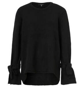 mavi             Pullover, Feinstrick, Rollsaum, Schleifenbänder