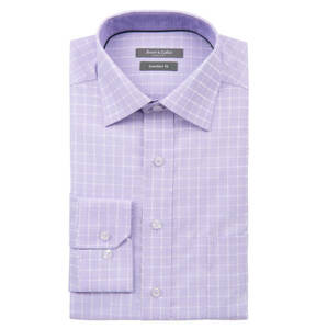 Rover & Lakes Comfort             Businesshemd, Comfort Fit, Karo-Muster, Baumwolle
