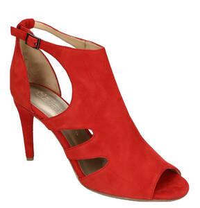tizian Shoes & Bags             Sandaletten, High Heels, Veloursleder, Peeptoe, Stretch-Details