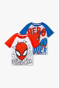 Spider-Man - Kurzarmshirt - Bio-Baumwolle - 2er Pack