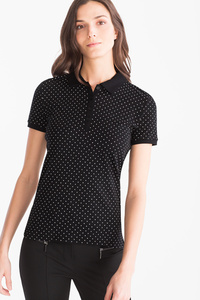 Yessica         Basic-Poloshirt - Bio-Baumwolle - gepunktet