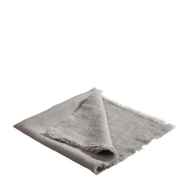 Esposa Leinen Serviette 4er Set 50/50 cm, Grau