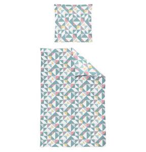 """IRISETTE             Kissenbezug """"Eos 8155"""", 100% Baumwolle, geometrisches Muster, Mako-Satin"""