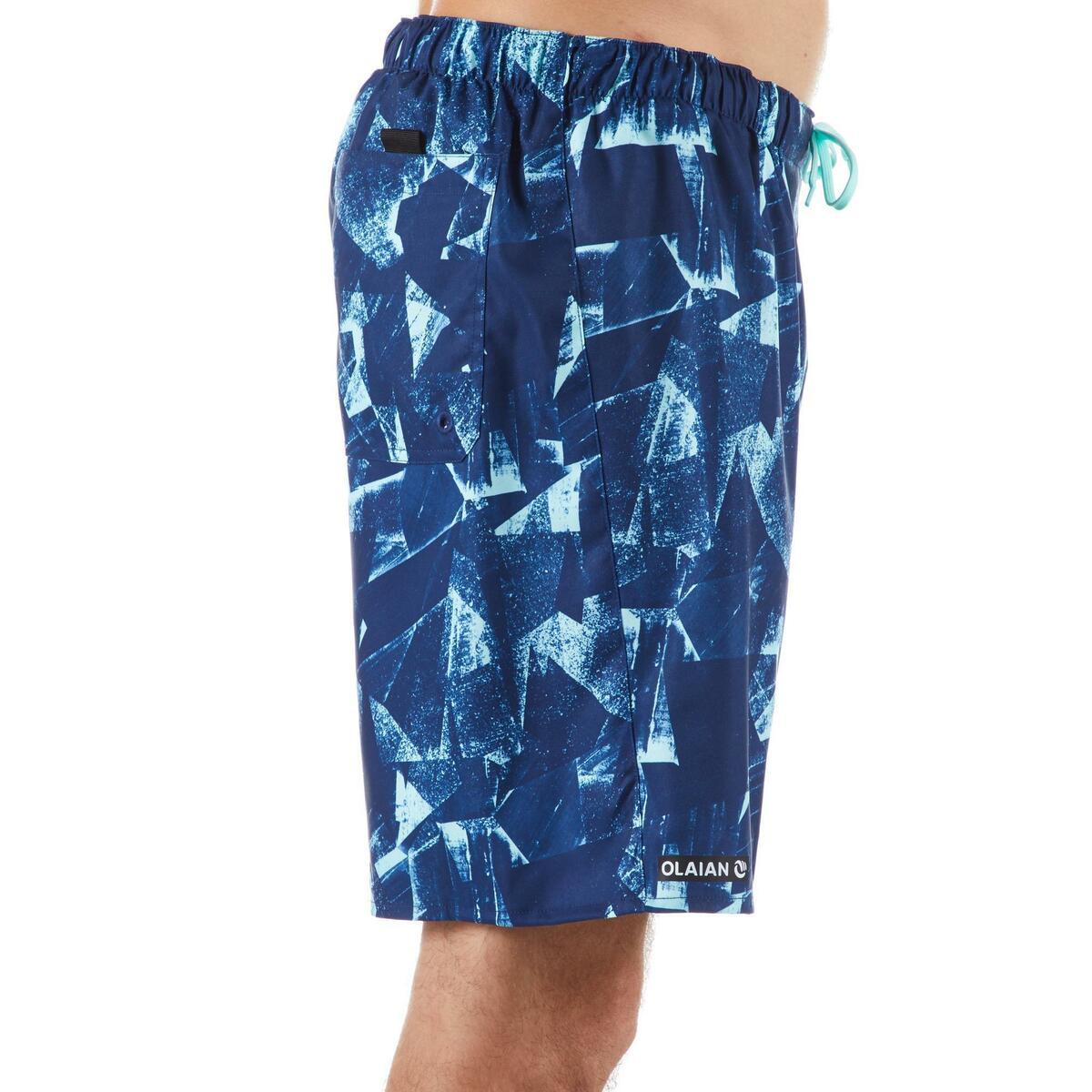 Bild 2 von Boardshorts Surfen Standard 100 Papercut blau