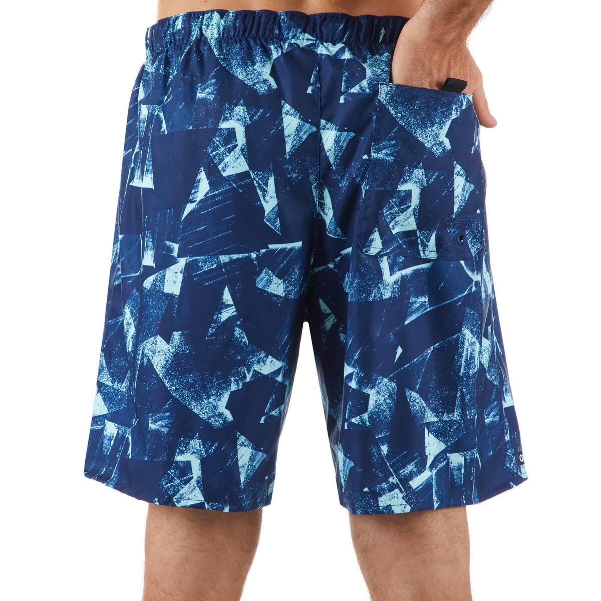 Bild 4 von Boardshorts Surfen Standard 100 Papercut blau