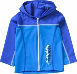 Trainingsjacke mit Kapuze und UV-Schutz blau Gr. 92/98 Jungen Kleinkinder