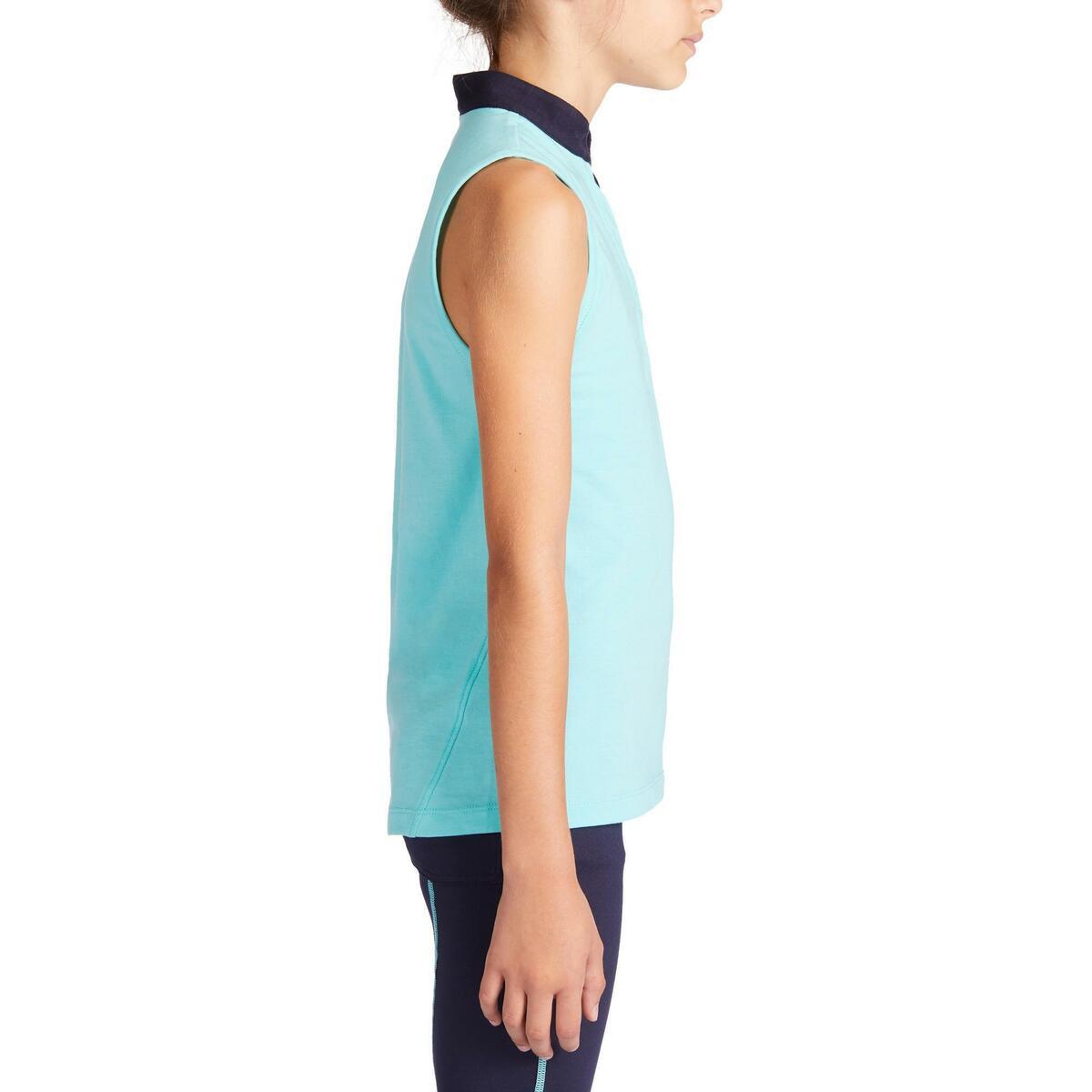 Bild 4 von Reitshirt ärmellos 100 Kinder türkis/marineblau