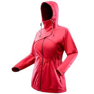 Regenjacke NH 500 Damen rot für Naturwanderungen