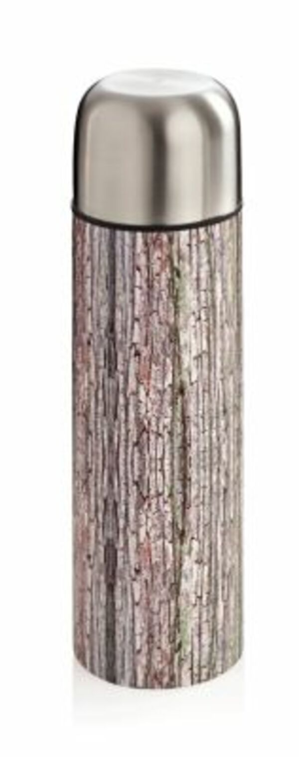 "Edelstahl Thermoskanne ""Wood"" 1,0l"