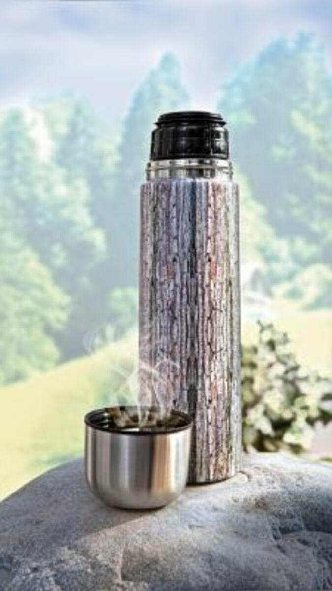 """Bild 2 von Edelstahl Thermoskanne """"Wood"""" 1,0l"""
