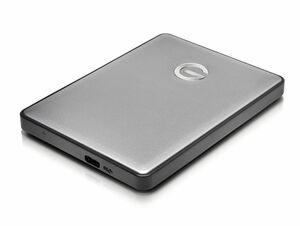 G-Technology G-DRIVE mobile USB-C, 2 TB externe Festplatte, USB-C, space grau