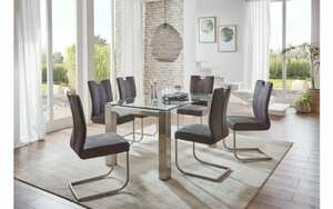 Niehoff - Stuhlgruppe Palma in grau/klar