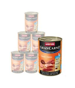 animonda Nassfutter GranCarno® Junior, 6 x 400g/800g