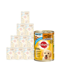 Pedigree® Junior, Geflügel & Reis, Nassfutter, 12 x 400g