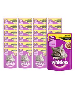 Whiskas® 7+ Huhn in Sauce, Nassfutter, 24 x 100 g