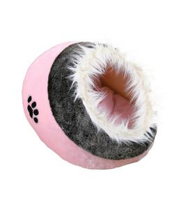"Trixie Kuschelhöhle ""Minou"", rosa/grau, 35x26x41 cm"