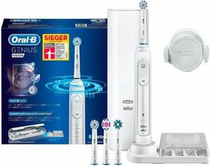 Oral B Elektrische Zahnbürste Genius 10000N White, Aufsteckbürsten: 4 St.