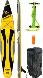 DVSPORT Inflatable SUP-Board »DVSport Stand-up-Paddle Thunder 12.6«, (inkl. 2-Wege-Pumpe, Rucksack)