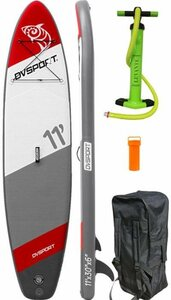 DVSPORT Inflatable SUP-Board »DVSport Stand-up-Paddle 11.0«, (inkl. 2-Wege-Pumpe,Rucksack)