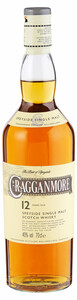 Cragganmore Speyside Single Malt Scotch Whisky, 12 y