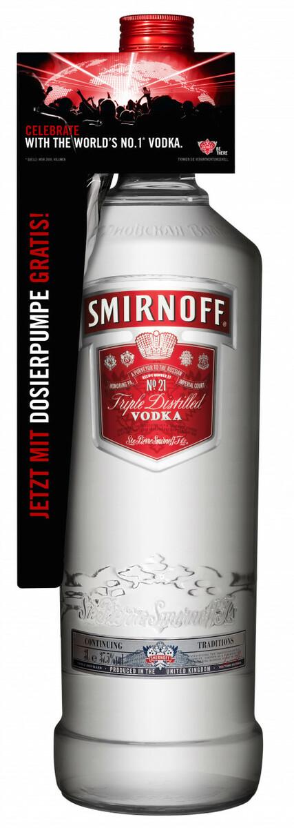 Bild 1 von Smirnoff Red No. 21 Premium Vodka Triple Destilled - 3 L mit Pumpe