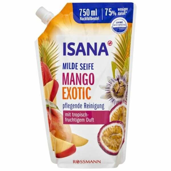ISANA Milde Seife Mango Exotic Nachfüllbeutel 1.05 EUR/1 l