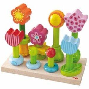 HABA - Steckspiel Blumengarten, 25 Teile