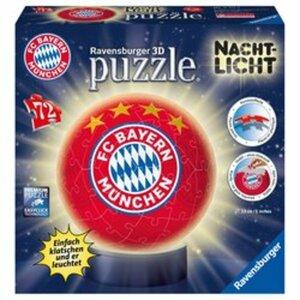 Ravensburger - 3D Puzzleball: Nachtlicht FC Bayern München, 72 Teile