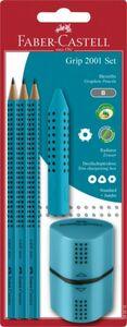 Faber-Castell - Bleistiftset - Grip 2001 - türkis