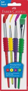 Eberhard Farber 4er Pinselset grün, rot, lila und gelb