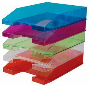 Ablagekorb DIN A4 - transparent - verschiedene Farben