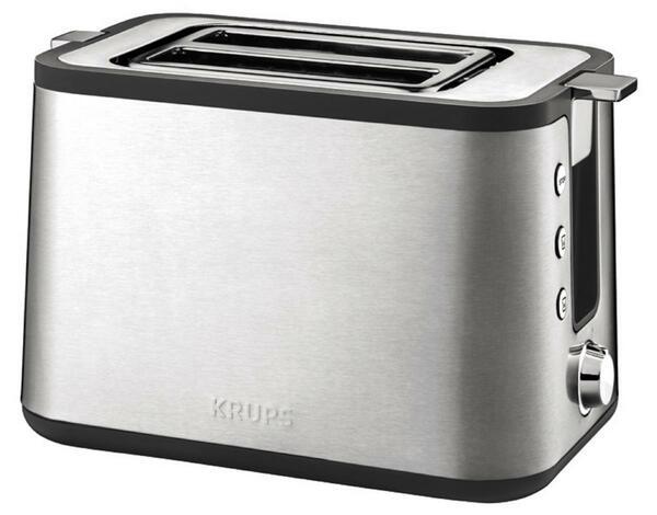KRUPS Toaster CONTROL LINE, Edelstahl/schwarz KH442D