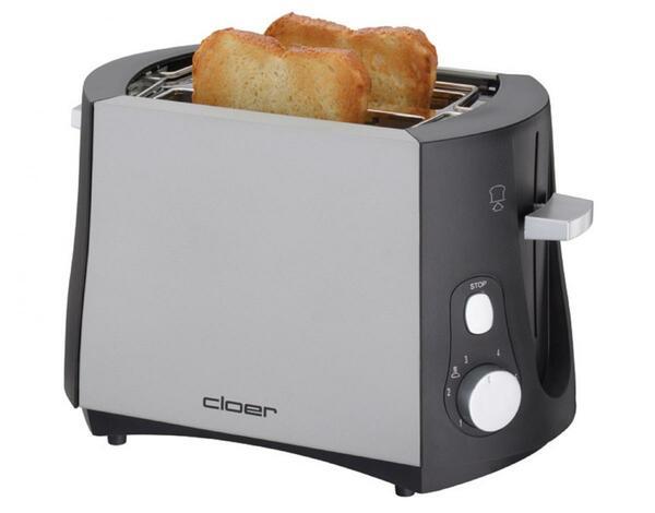 CLOER Toaster 3410 matt/schwarz