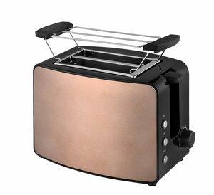 Kalorik Design-Toaster TKG TO 1220 Havanna-Kupfer für 2 Scheiben inkl. Brötchenaufsatz