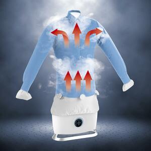 CLEANmaxx Bügler mit Dampffunktion 1800W weiß für Hemden & Blusen