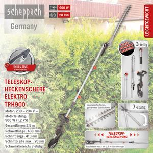 Scheppach Heckenschere TPH900 230V/50Hz