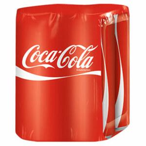 Coca Cola*, Zero*, Light* oder Fanta (*koffeinhaltig), jede 4 x 0,33-Liter-Packung
