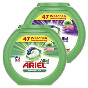 Ariel 3 in 1 Pods 47 Waschladungen, versch. Sorten, jede Packung