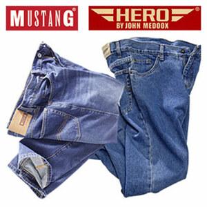 Herren-Jeans Mustang oder Hero by John Medoox versch. Modelle, Waschungen und Größen, ab